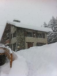 le chalet Soleniou en hiver