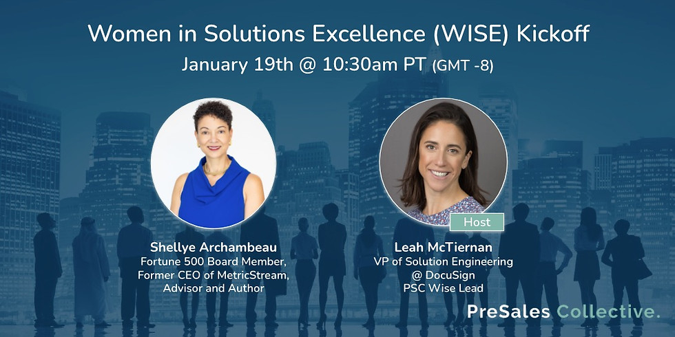 Women in Solutions Excellence (WISE) Kickoff 2021