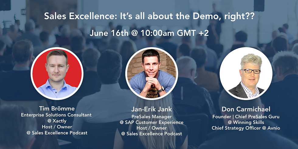 Sales Excellence: It's All About the Demo, right??