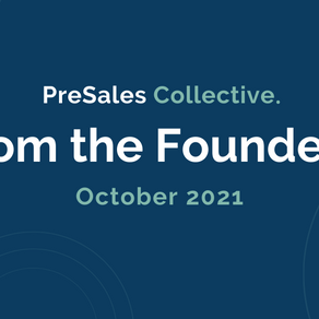 From the Founders: October 2021