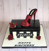 Shoe box birthday cake
