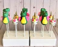 Unicorn and Dino Cakepops