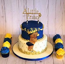 Royal Prince Baby Shower Cake