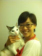 Dr. Ahn holding a cat