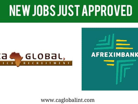 Afreximbank Jobs 2017: Just approved!