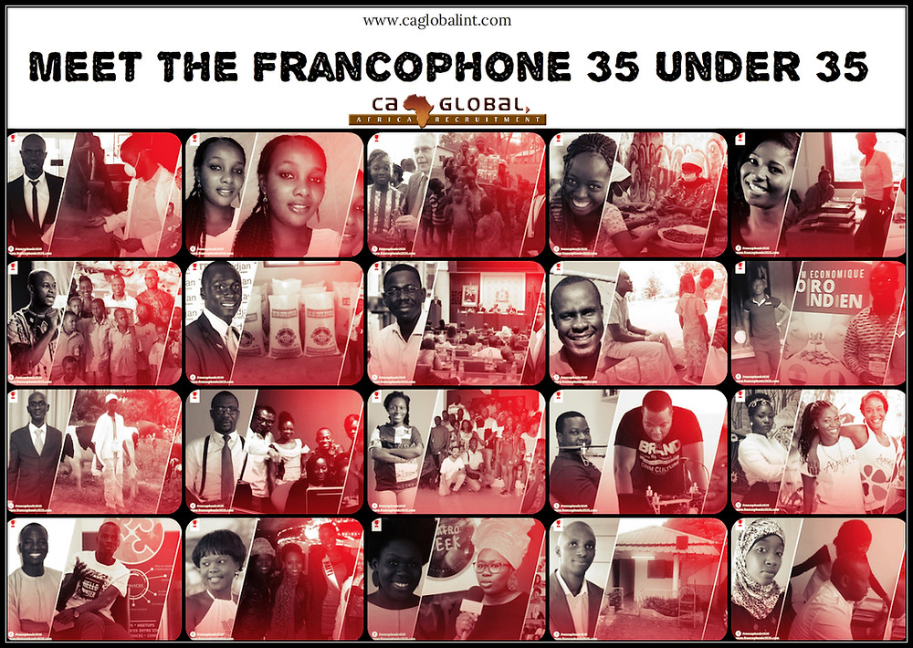 Francophone Africa 35 under 35 - Jobs in Africa CA Global