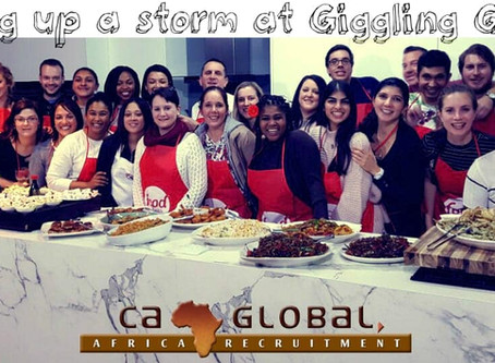 Cooking up a storm at Giggling Gourmet: CA Global staff function