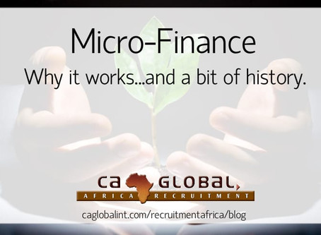 Micro-Finance: Why it works…and a bit of history