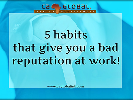 5 Habits that give you a bad reputation at the office