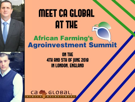 Meet CA Global at the Agroinvestment Summit in London!