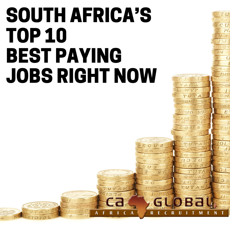 South Africa's Top 10 Best Paying Jobs Right Now