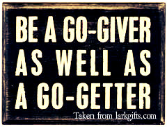 Go-getter and a Go-giver