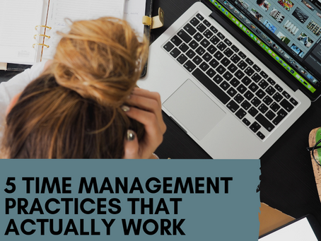 5 Time Management Habits that Actually Work