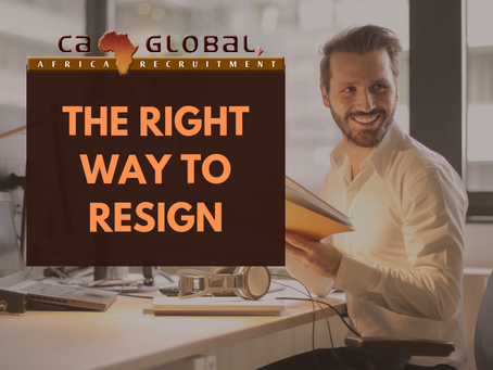 The Right Way to Resign