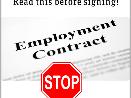 New job? Read this before signing that employment contract