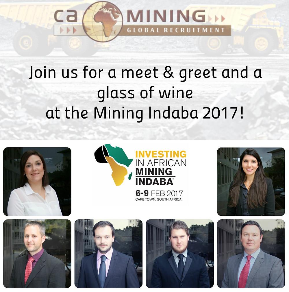 Mining Indaba 2017, CA Mining Africa Recruitment, Jobs in Africa