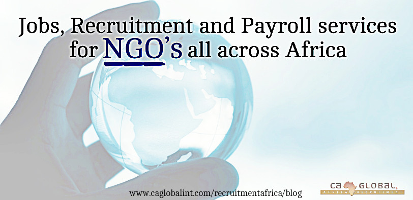 Africa Jobs, Recruitment and Payroll services for NGO's in Africa
