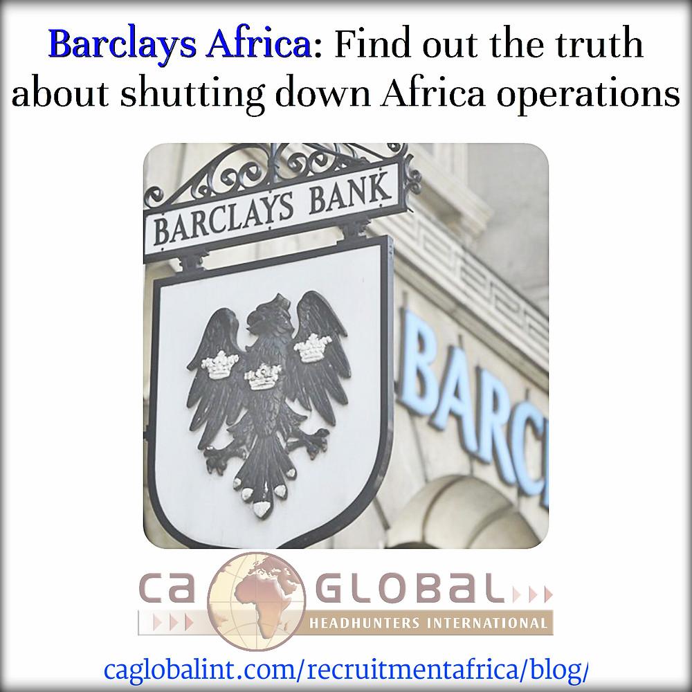 Barclays Africa CA Global Jobs in Africa