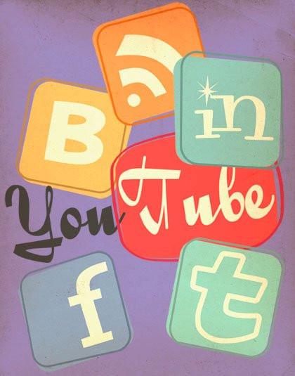 Retro-Social-Media-Icons