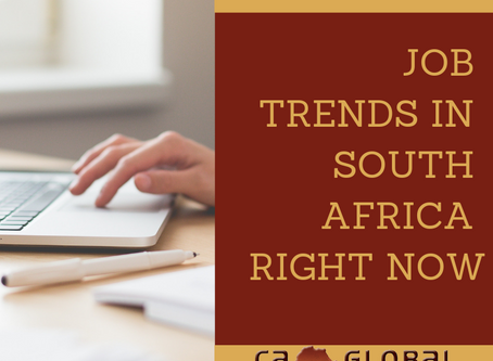 Employment trends in South Africa right now