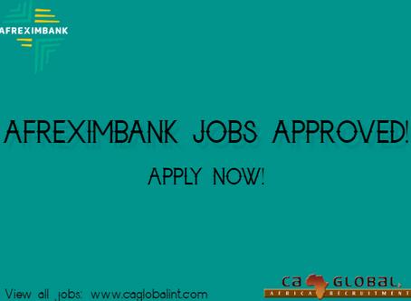 Afreximbank jobs in Cairo, Nairobi and Harare