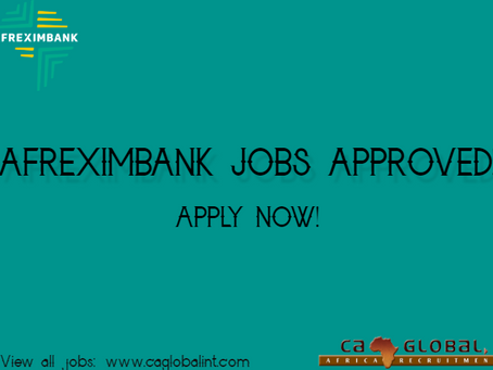 Afreximbank jobs in Cairo, Nairobi and Harare