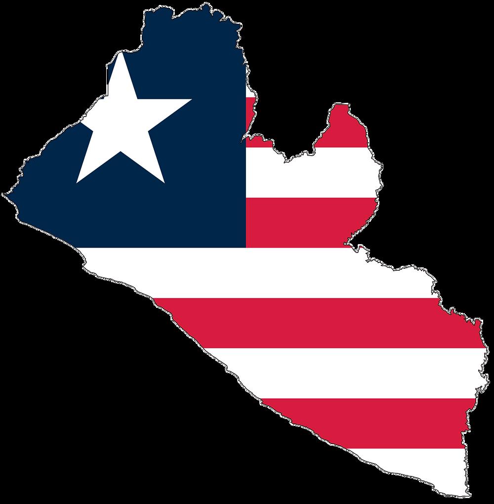 liberia_flag_map