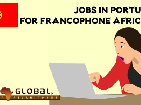 Jobs in Portugal for Francophone Africans