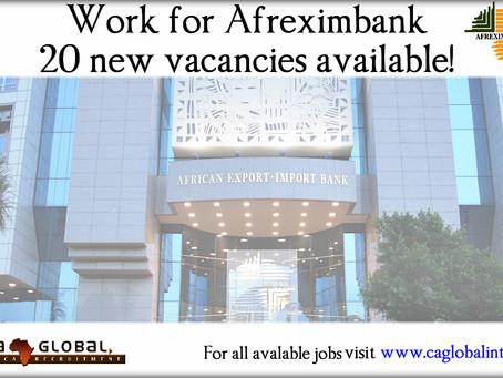 Top Banking Jobs in Africa – 20 new Afreximbank vacancies 2016
