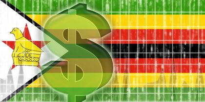 Flag of Zimbabwe finance economy