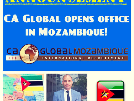 CA Global Mozambique offers jobs for Lusophone Africa and Payroll Services