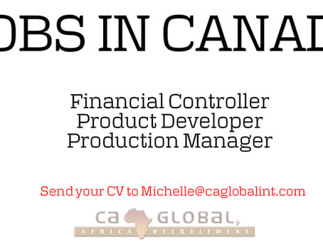 Jobs in Canada with CA Global's FMCG client