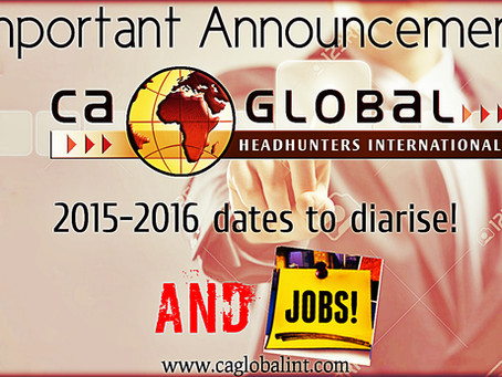 Important CA Global Announcement: 2015-2016