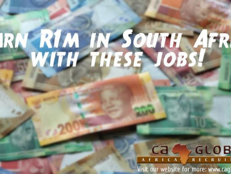 Earn R1 million annually: Jobs in South Africa