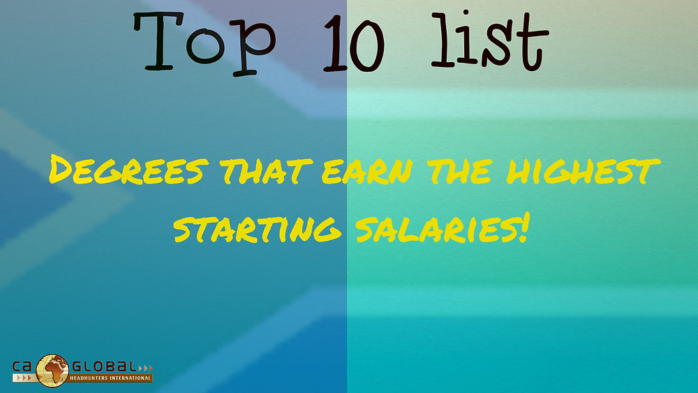 Top 10 highest  salaries for graduates South Africa_CA Global