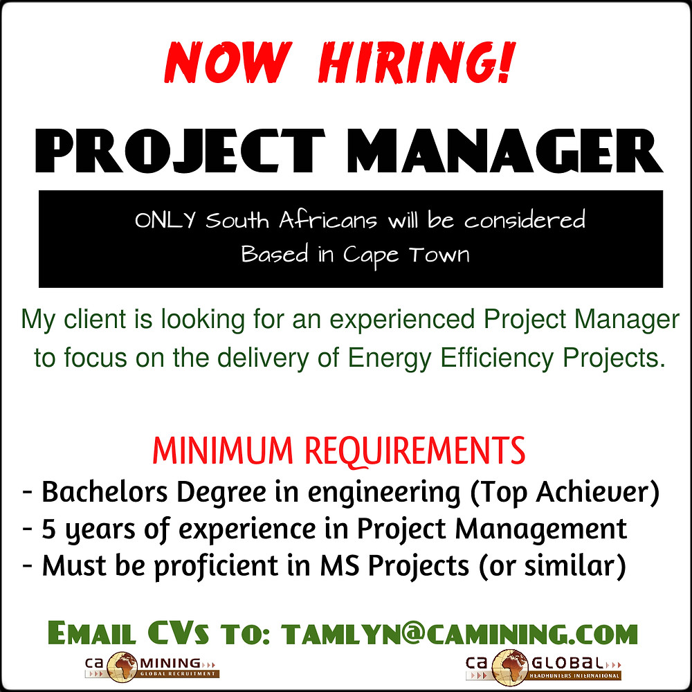 Project Manager - Cape Town