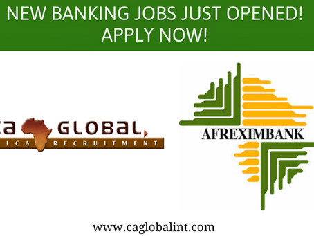 Banking jobs in Cairo with Afreximbank and CA Global