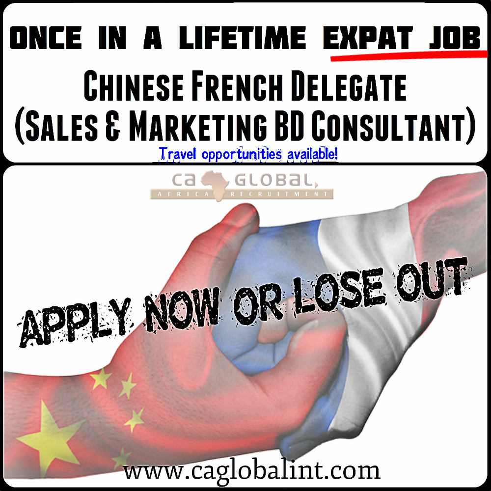 Expat job in DRC Africa_Chinese French Sales & Marketing BD Consultant1