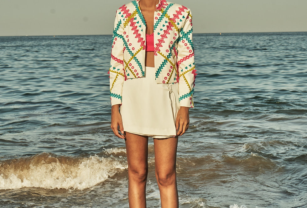 ELLA Geometric Appliqué jacket