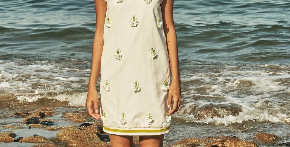 PAUSA embellished shift dress