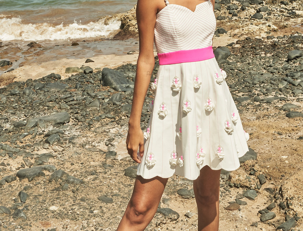 PRIMA Sculpted and embellished dress