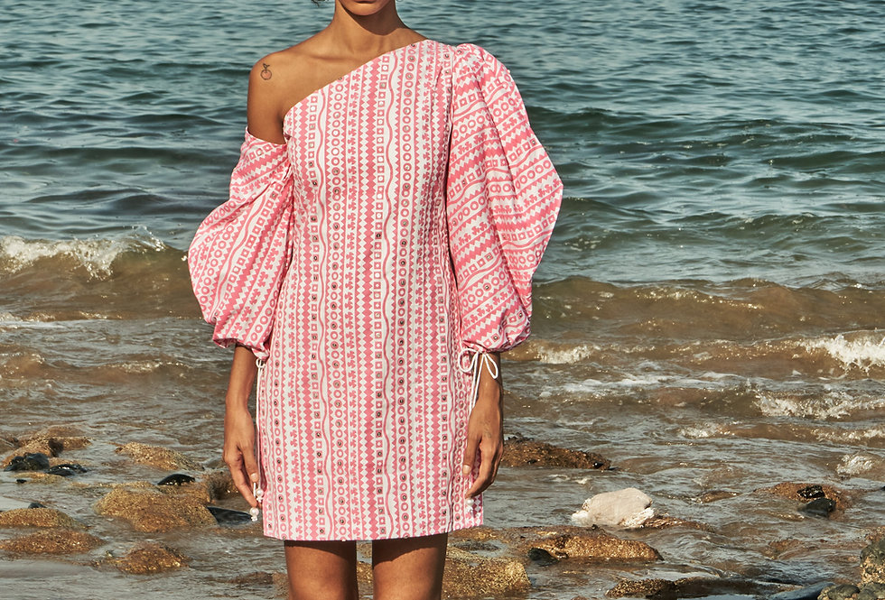 AMARA Printed appliqué  dress