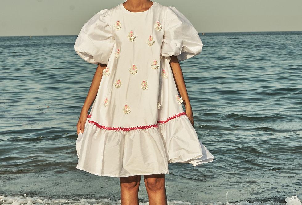 RAYA silk trapeze dress