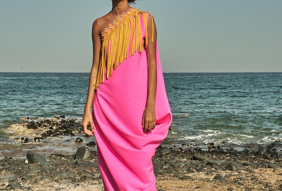 HARPER One-shoulder drape dress