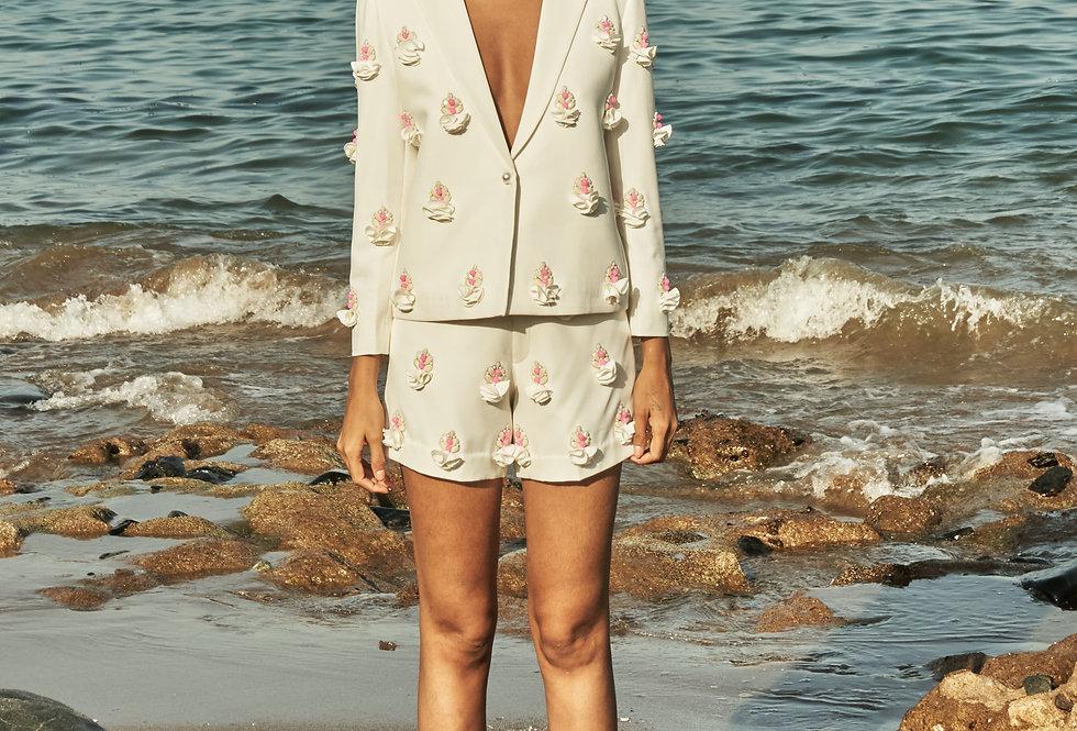 FLEUR Embellished short-suit