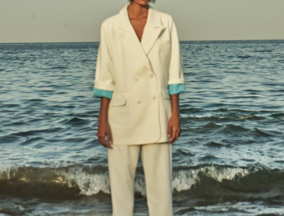 HAZEL(W) Overlap white pantsuit