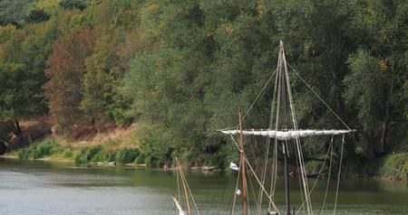Bords de Loire gabarre bateau