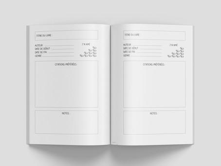 """Découvrez l'intérieur des carnets """"Où j'en suis dans mes livres"""""""