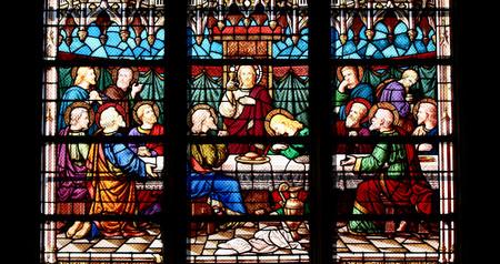 Cène Jésus Apôtres cathédrale de Moulins Allier église