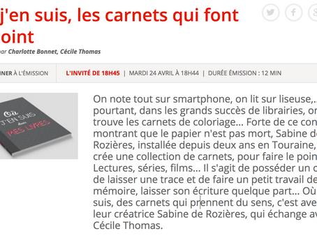 La presse en parle : vos carnets sur les ondes de RCF Touraine
